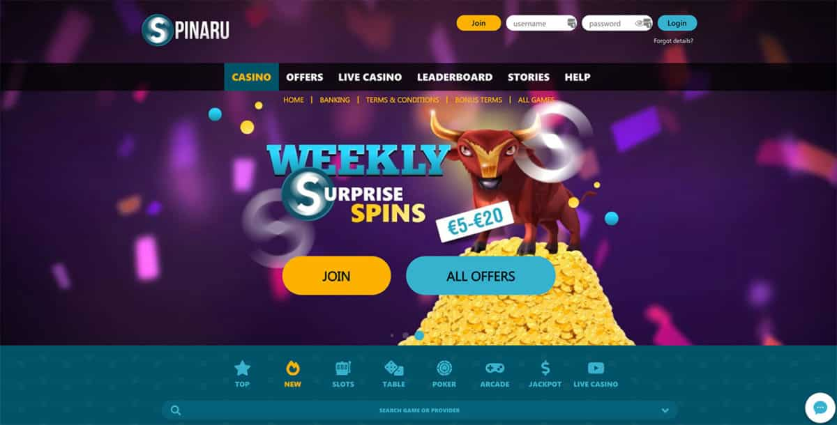 Spinaru Casino Review