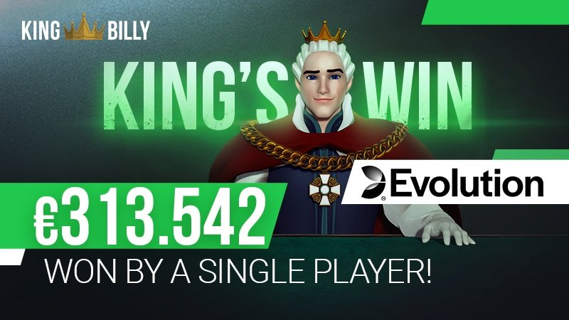 Player Wins €313,542 at King Billy Casino