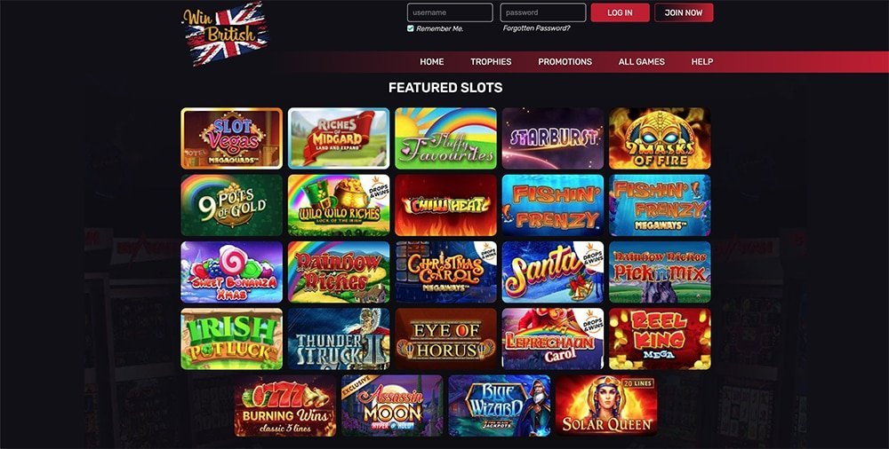 Win British Online Casino